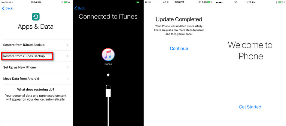 restore iphone x from itunes